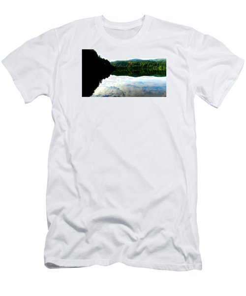 Lake Padden Cloud Reflection Men's T-Shirt (Slim Fit) by Karen Molenaar Terrell