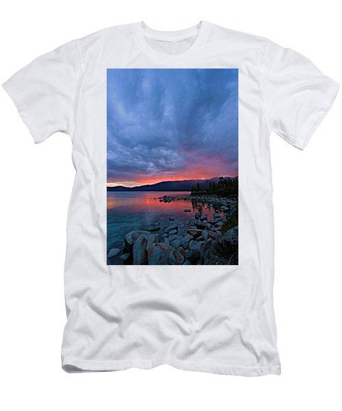 Lake Tahoe Sunset Portrait 2 Men's T-Shirt (Athletic Fit)