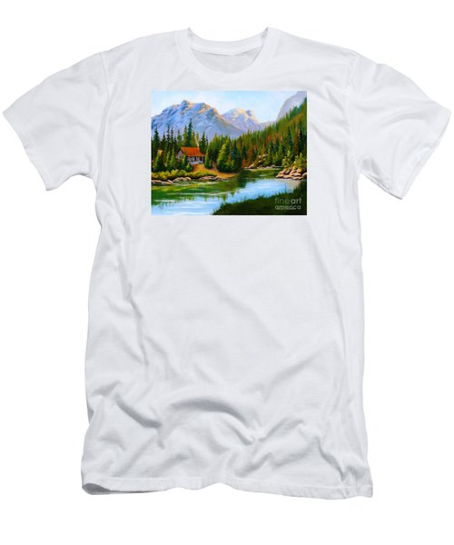 Lakeside Cabin Men's T-Shirt (Athletic Fit)