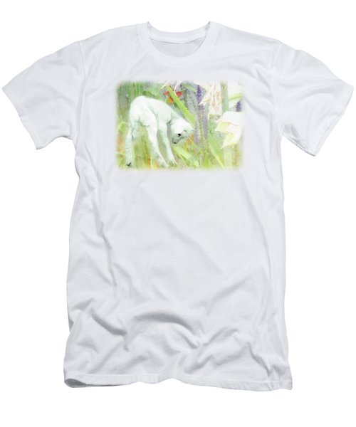 Lamb And Lilies Men's T-Shirt (Athletic Fit)