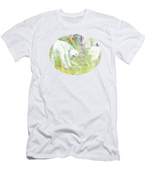 Lamb And Lilies - Verse Men's T-Shirt (Slim Fit) by Anita Faye