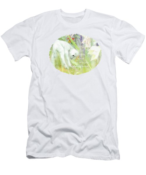 Lamb And Lilies - Verse Men's T-Shirt (Athletic Fit)
