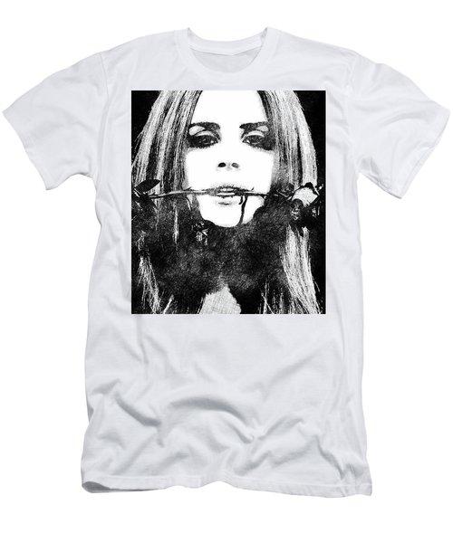 Lana Del Rey Bw Portrait Men's T-Shirt (Athletic Fit)