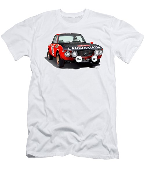 Lancia Fulvia Hf Illustration Men's T-Shirt (Athletic Fit)
