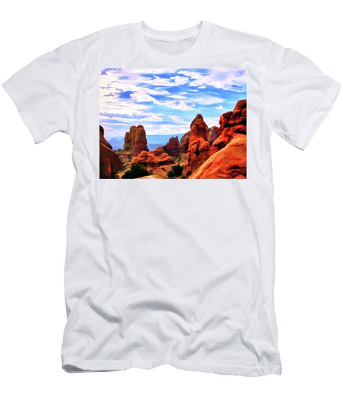 Land Of Moab - Watercolor Men's T-Shirt (Athletic Fit)