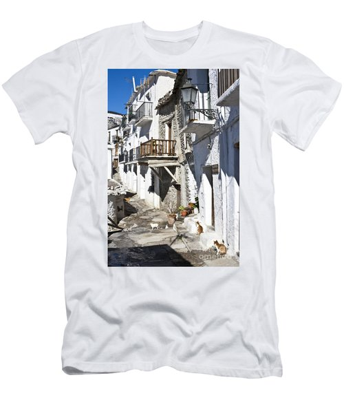Men's T-Shirt (Slim Fit) featuring the photograph Street In Capileira Puebla Blanca by Heiko Koehrer-Wagner