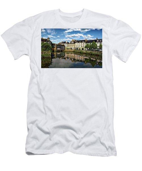Men's T-Shirt (Athletic Fit) featuring the photograph Landerneau Village View by Anthony Dezenzio