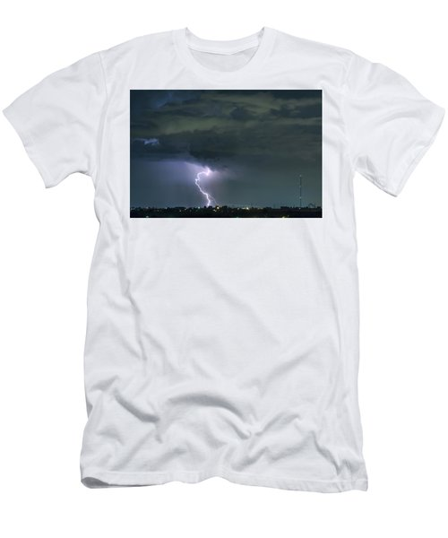 Men's T-Shirt (Slim Fit) featuring the photograph Landing In A Storm by James BO Insogna