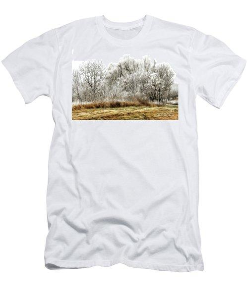 Landscape In Winter Men's T-Shirt (Athletic Fit)