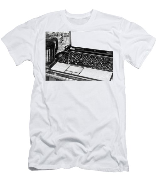 Laptop Men's T-Shirt (Athletic Fit)
