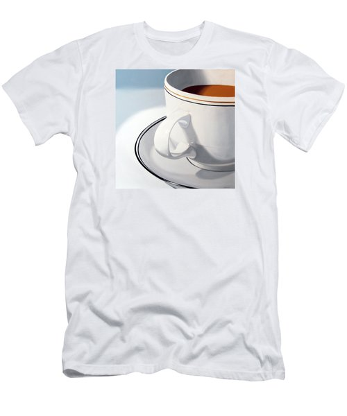 Men's T-Shirt (Slim Fit) featuring the painting Large Coffee Cup by Mark Webster
