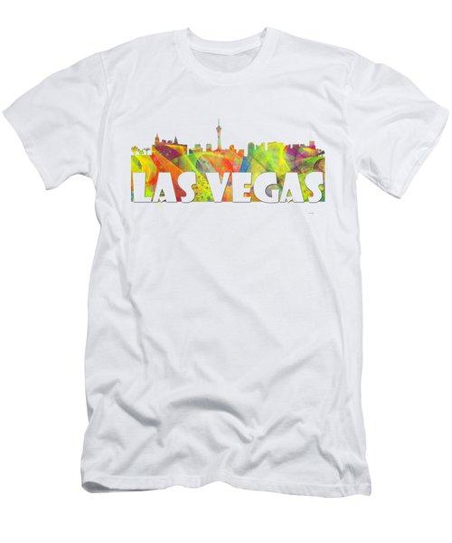 Las Vegas Skyline Men's T-Shirt (Athletic Fit)