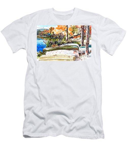 Last Summer In Brigadoon Men's T-Shirt (Slim Fit) by Kip DeVore