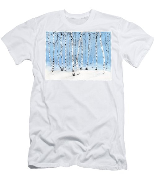 Late Afternoon Snowstorm In The Forest Men's T-Shirt (Athletic Fit)