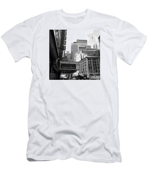 Late Show Nyc Men's T-Shirt (Slim Fit) by Shelley Overton