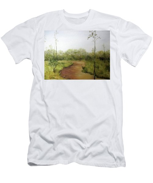 Men's T-Shirt (Slim Fit) featuring the painting Late Summer Walk by Roseann Gilmore