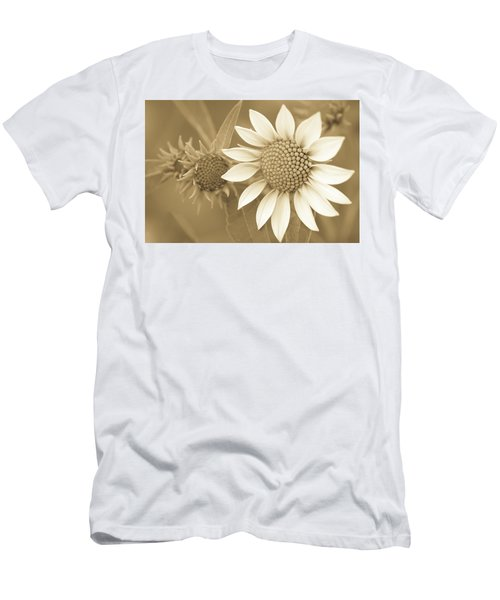 Late Summer Wildflower In Sepia Men's T-Shirt (Athletic Fit)