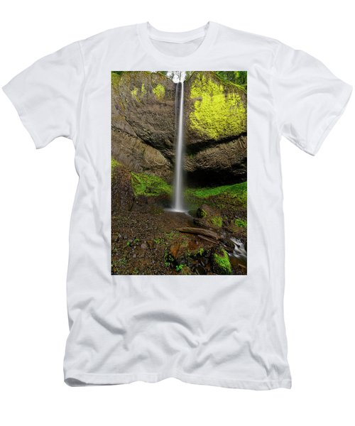 Latourell Falls Men's T-Shirt (Slim Fit) by Jonathan Davison