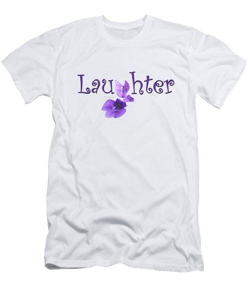Men's T-Shirt (Slim Fit) featuring the digital art Laughter Shirt by Ann Lauwers
