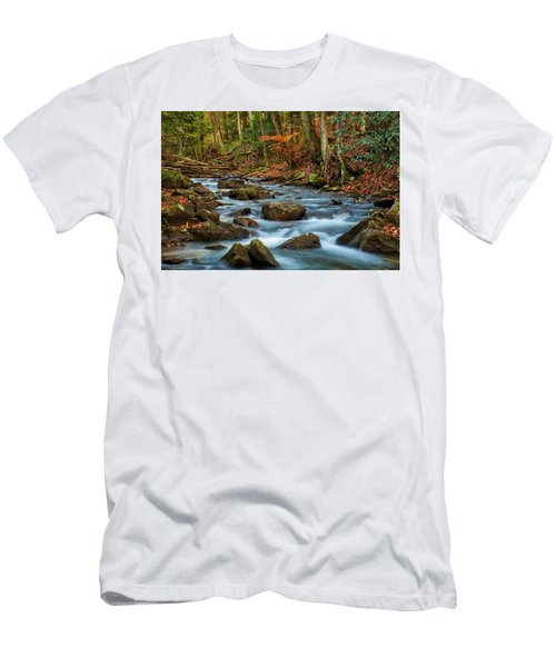 Laurel Fork In The Fall Men's T-Shirt (Athletic Fit)