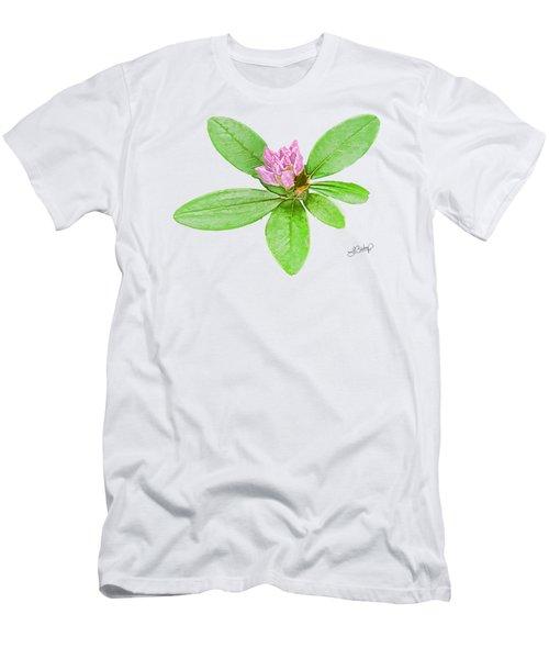 Laurel In Pink Men's T-Shirt (Slim Fit) by Larry Bishop