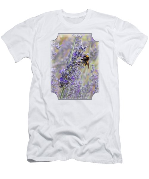 Lavender Bee Men's T-Shirt (Athletic Fit)