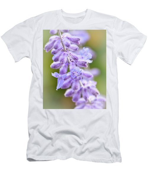 Men's T-Shirt (Athletic Fit) featuring the photograph Lavender Blooms by Kerri Farley