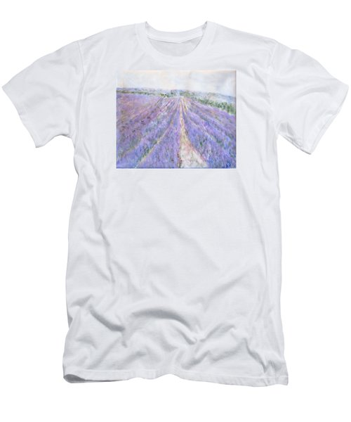 Lavender Fields Provence-france Men's T-Shirt (Athletic Fit)