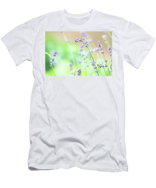 Lavender Garden Men's T-Shirt (Slim Fit) by Trina Ansel
