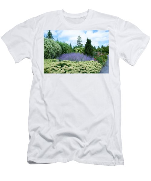 Lavender In The Middle Men's T-Shirt (Slim Fit) by Lois Lepisto