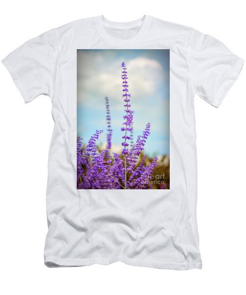 Men's T-Shirt (Athletic Fit) featuring the photograph Lavender To The Sky by Kerri Farley