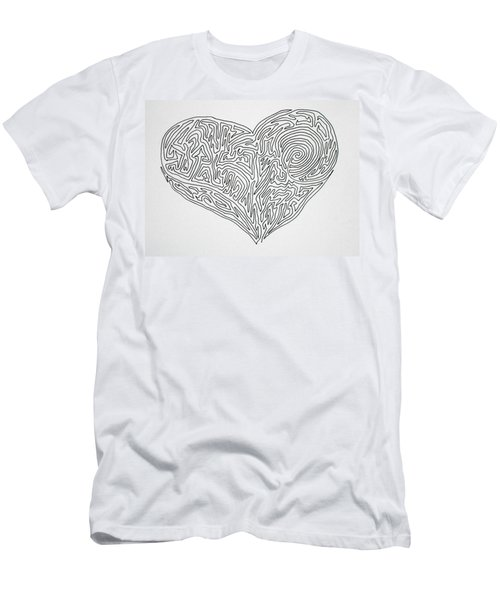 Laying Your Heart On A Line  Men's T-Shirt (Athletic Fit)
