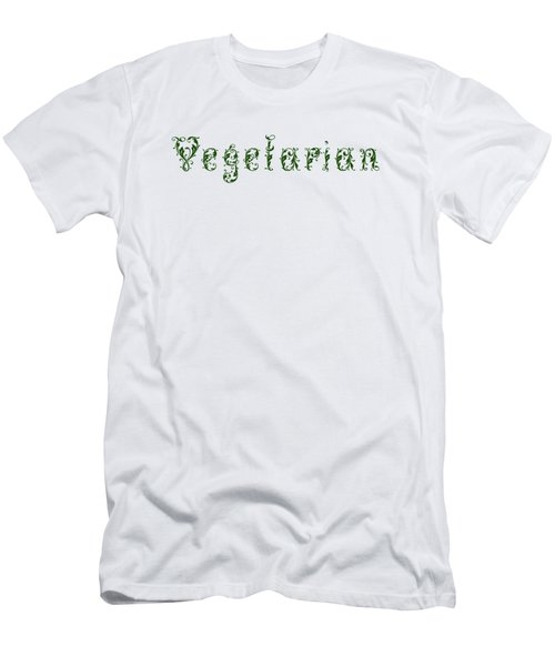 Leafy Green Vegetarian Men's T-Shirt (Slim Fit) by Nola Lee Kelsey