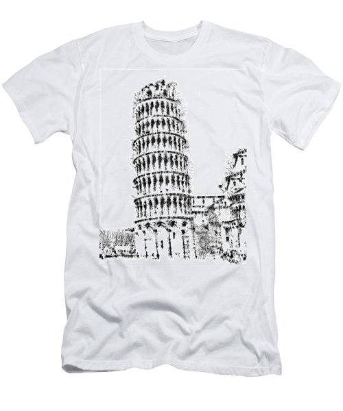 Leaning Tower Of Pisa Men's T-Shirt (Slim Fit) by ISAW Gallery