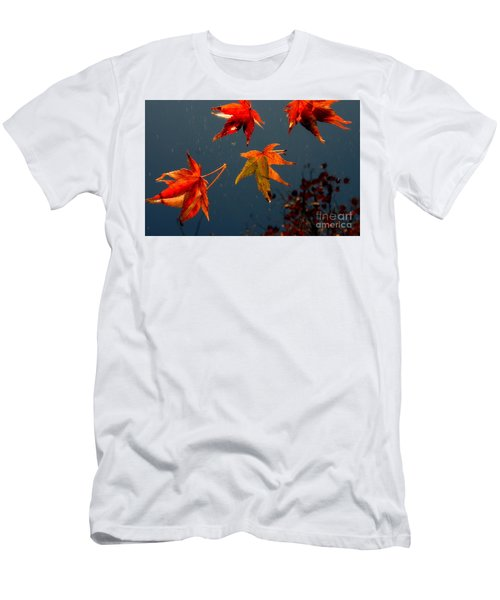 Leaves Falling Down Men's T-Shirt (Athletic Fit)