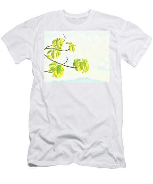 Leaves In The Sun Men's T-Shirt (Slim Fit) by Craig Wood