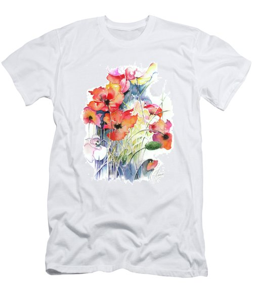 Men's T-Shirt (Slim Fit) featuring the painting Leaving The Shadow by Anna Ewa Miarczynska