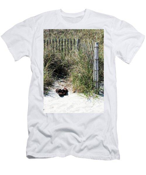 Left Behind Men's T-Shirt (Slim Fit) by Cathy Harper