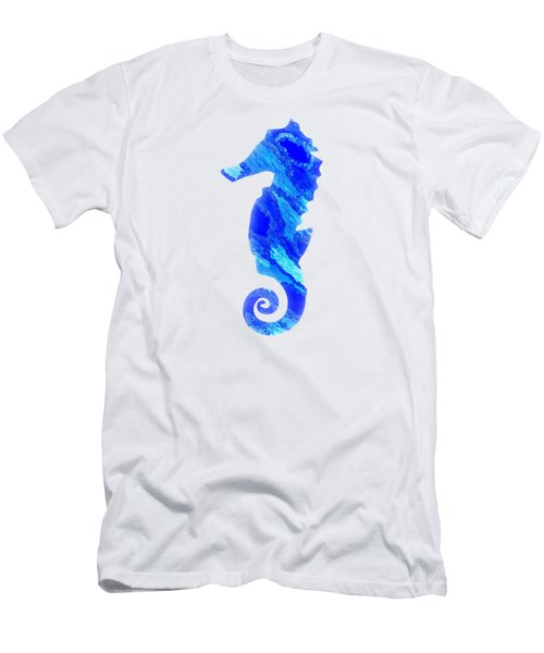 Left Facing Seahorse Bt Men's T-Shirt (Athletic Fit)