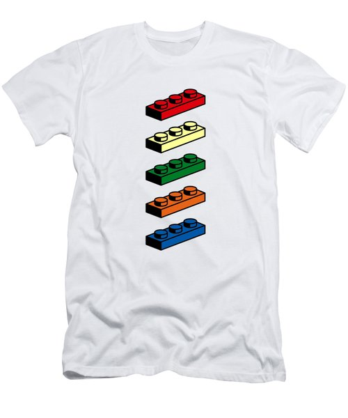Men's T-Shirt (Slim Fit) featuring the photograph Lego T-shirt Pop Art by Edward Fielding