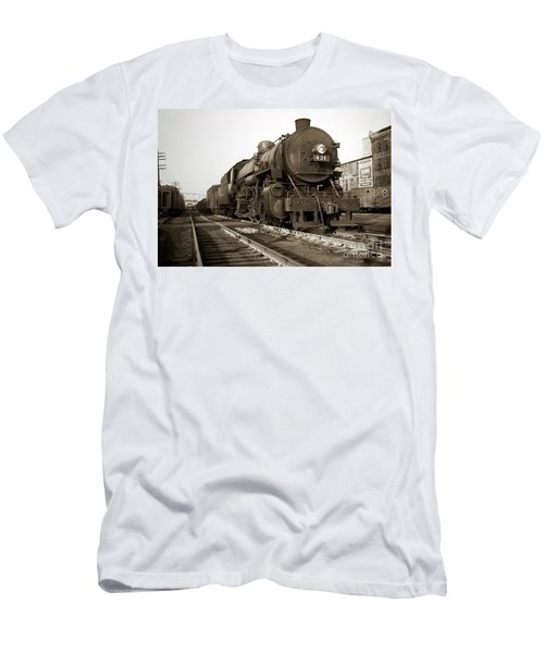 Lehigh Valley Steam Locomotive 431 At Wilkes Barre Pa. 1940s Men's T-Shirt (Athletic Fit)