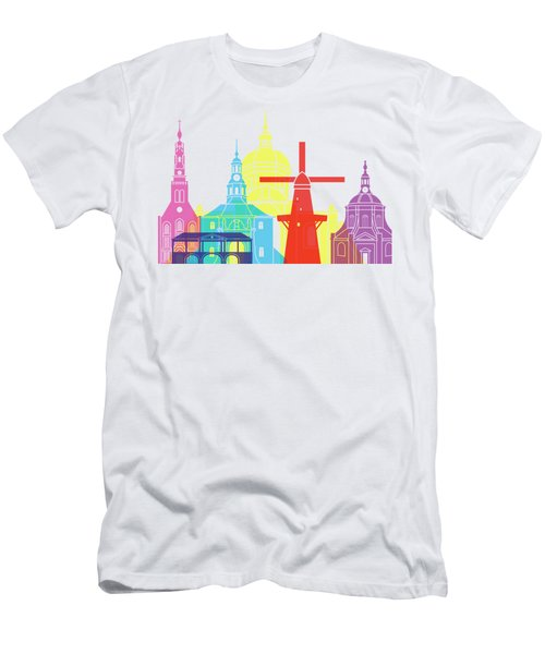 Leiden Skyline Pop Men's T-Shirt (Athletic Fit)