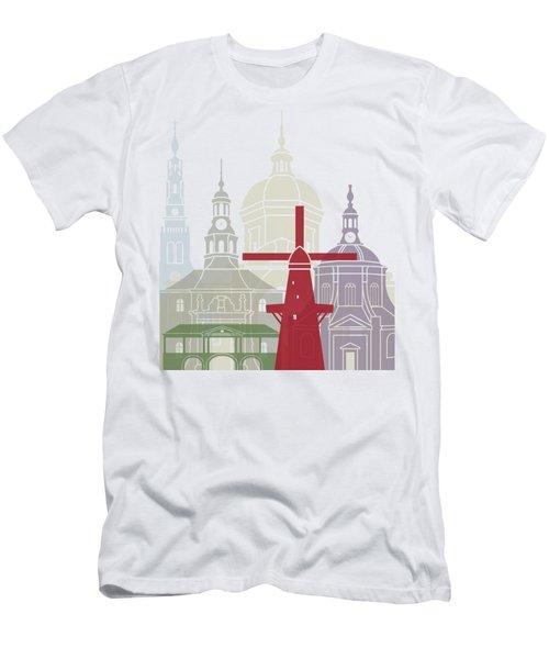 Leiden Skyline Poster Men's T-Shirt (Athletic Fit)