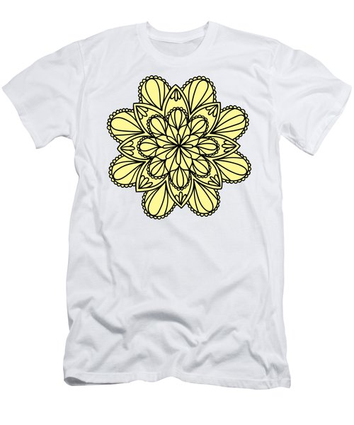 Lemon Lily Mandala Men's T-Shirt (Slim Fit) by Georgiana Romanovna