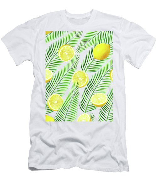 Lemons Men's T-Shirt (Slim Fit) by Uma Gokhale