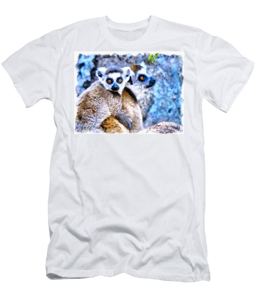 Lemurs Of Madagascar Men's T-Shirt (Slim Fit) by Maciek Froncisz