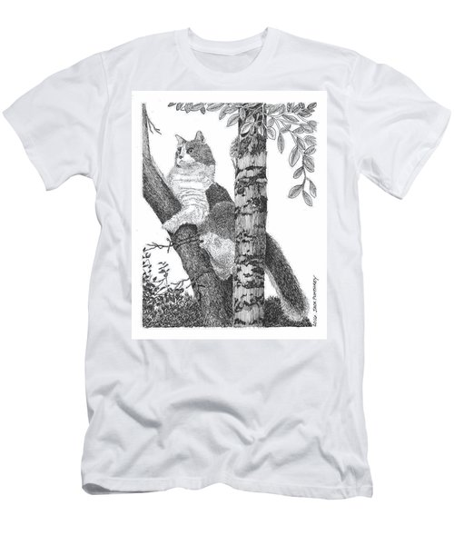 Leo In The Tree Men's T-Shirt (Athletic Fit)