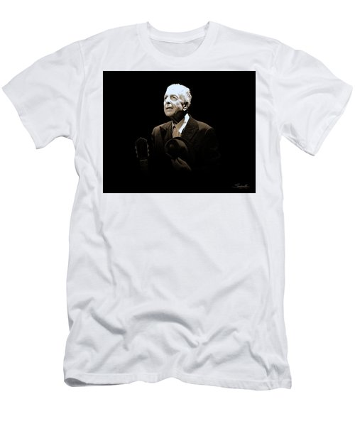 Portrait Of Leonard Cohen Men's T-Shirt (Athletic Fit)