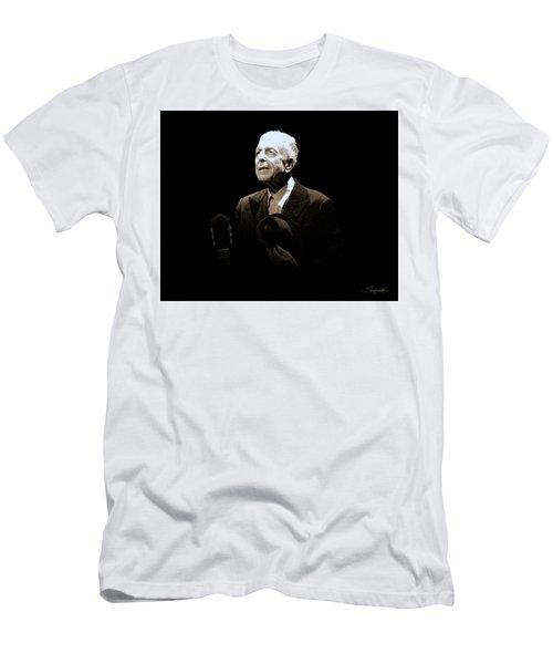 Portrait Of Leonard Cohen Men's T-Shirt (Athletic Fit)