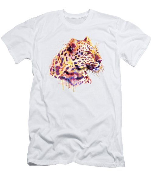 Leopard Head Men's T-Shirt (Slim Fit) by Marian Voicu